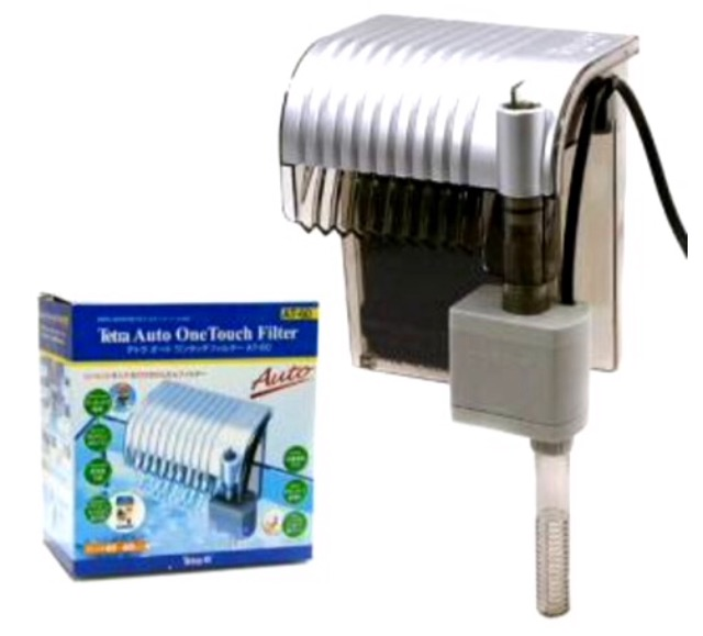簡単にできる掛け型フィルター。水槽セットに選ばれるのも納得。
