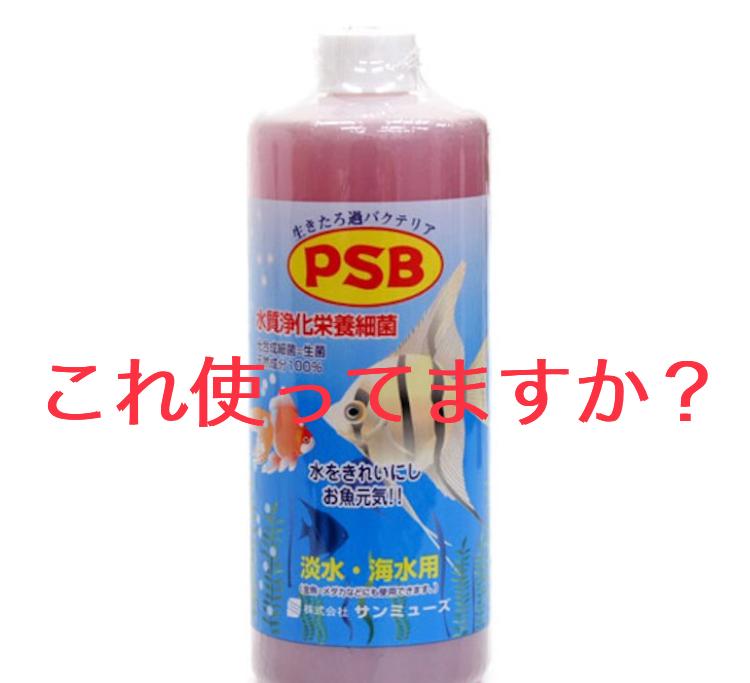 ◆バクテリア PSB (サンミューズ社)。アクアリウムでの効果を知り飼育を簡単に!