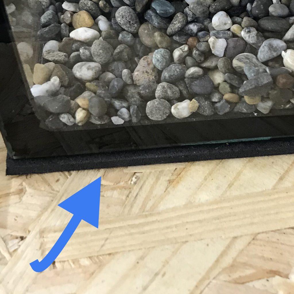 ◇『sakanaの日常』水槽の下に敷くマットの重要性